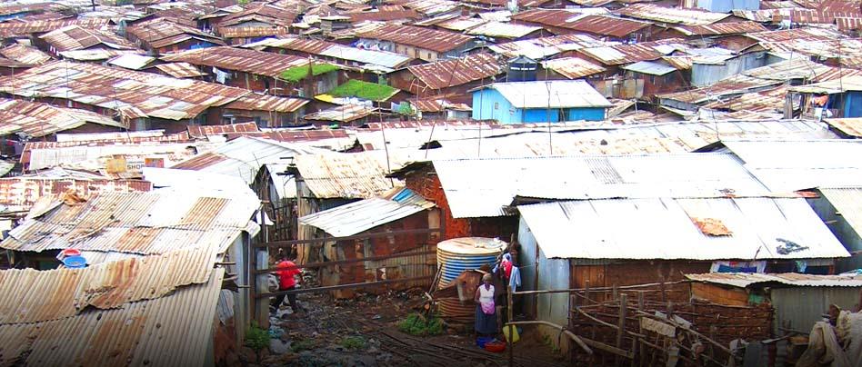 <b>En milliard mennesker</b> <br> i verden  bor i slumområder